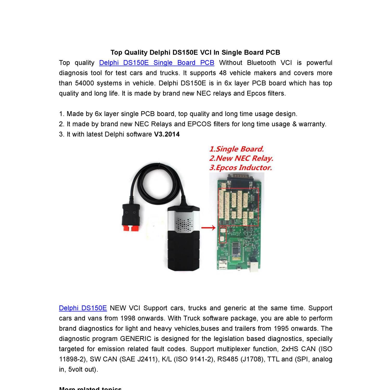 Top Quality Delphi DS150E VCI In Single Board PCB pdf | DocDroid