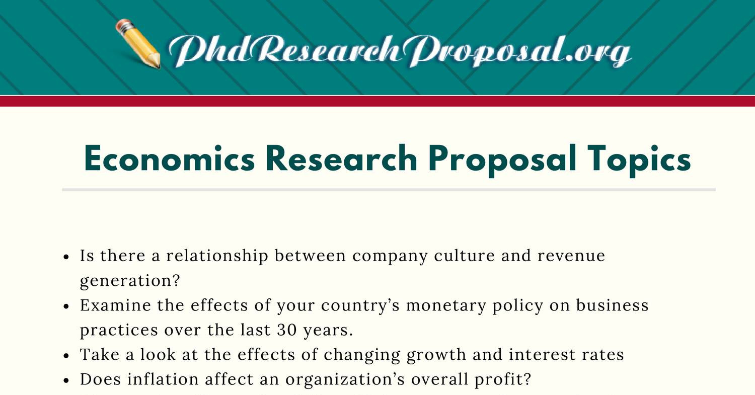 research proposal topics in business