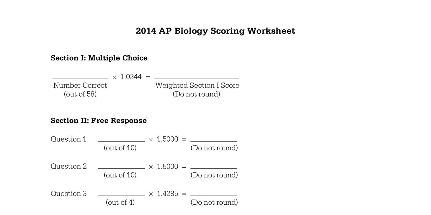 Ap biology essays and answers