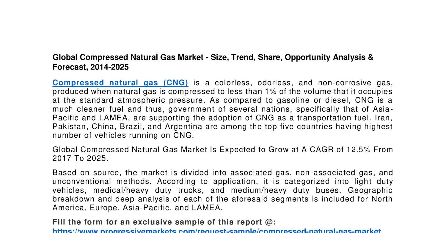 Advantages Of Natural Gas >> Global Compressed Natural Gas Market Pricing Station Advantages