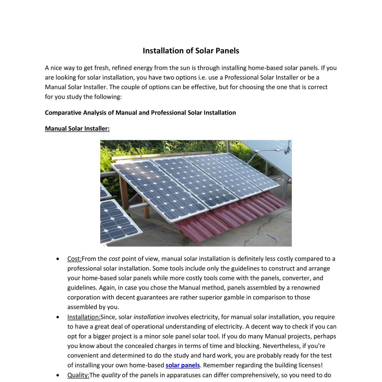 solar panel installation guide pdf