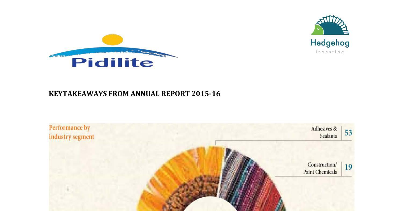 Pidilite Industries Ltd 2015 16 Pdf Docdroid