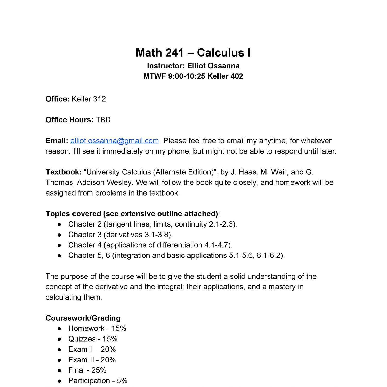 MAT241Syllabus pdf   DocDroid