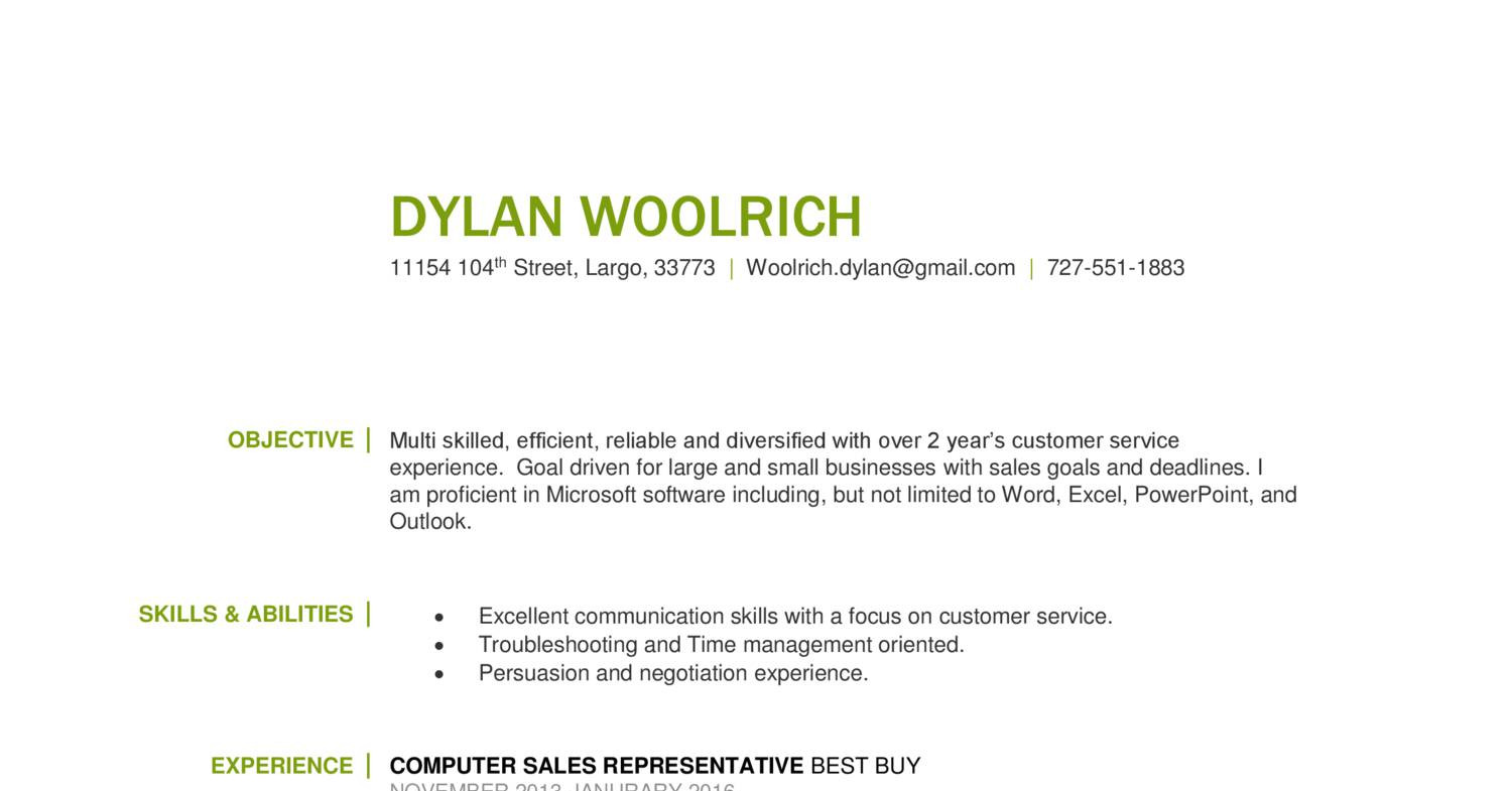 Dylan Woolrich Resume Docx Docdroid