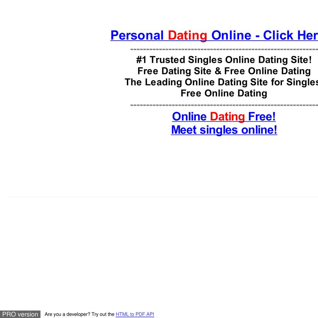 Free personal dating profiles