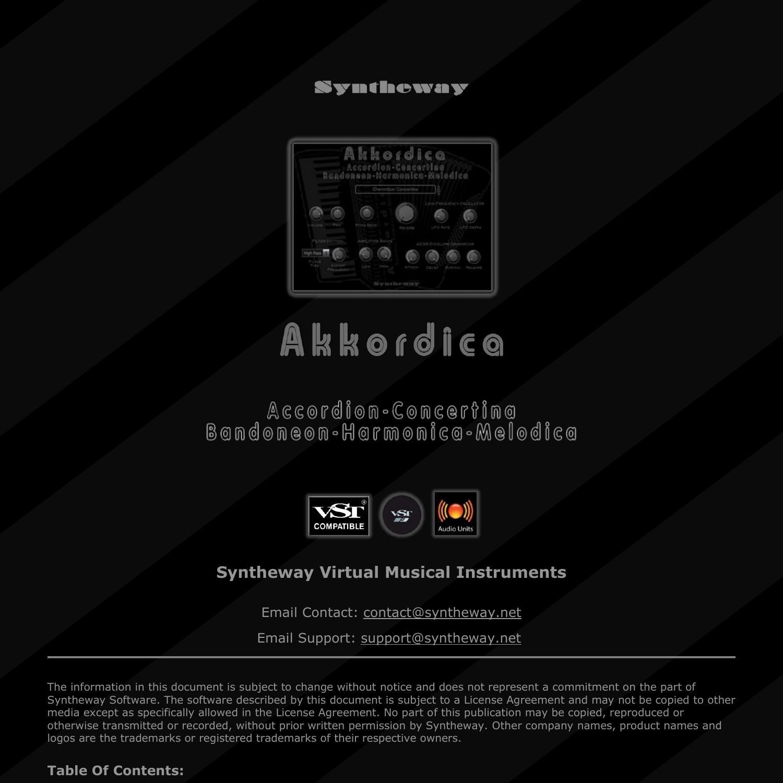 Akkordica Virtual Accordion, Harmonica and Melodica VST for Windows