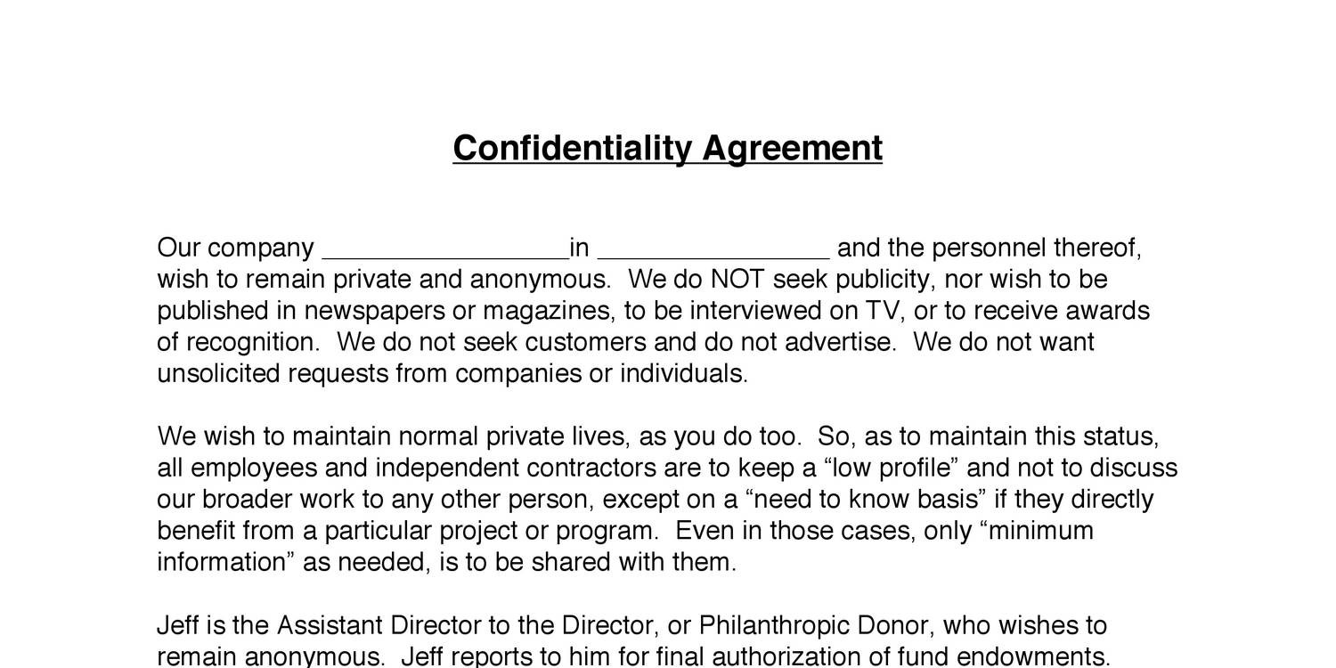 Contractor Confidentiality Agreements   3 Confidentiality Agreement 2 Pdf Docdroid