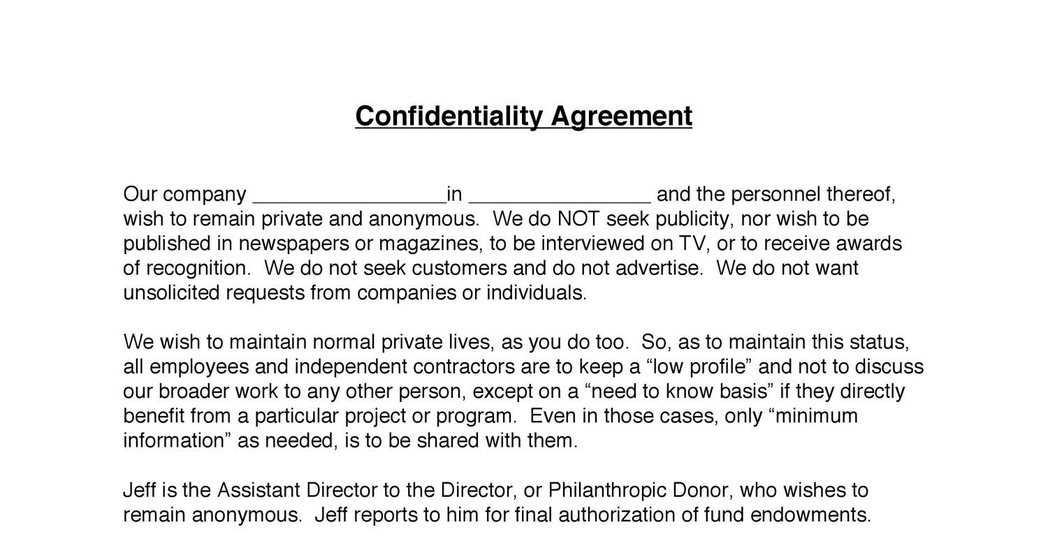 3 Confidentiality Agreement 2 Pdf Docdroid