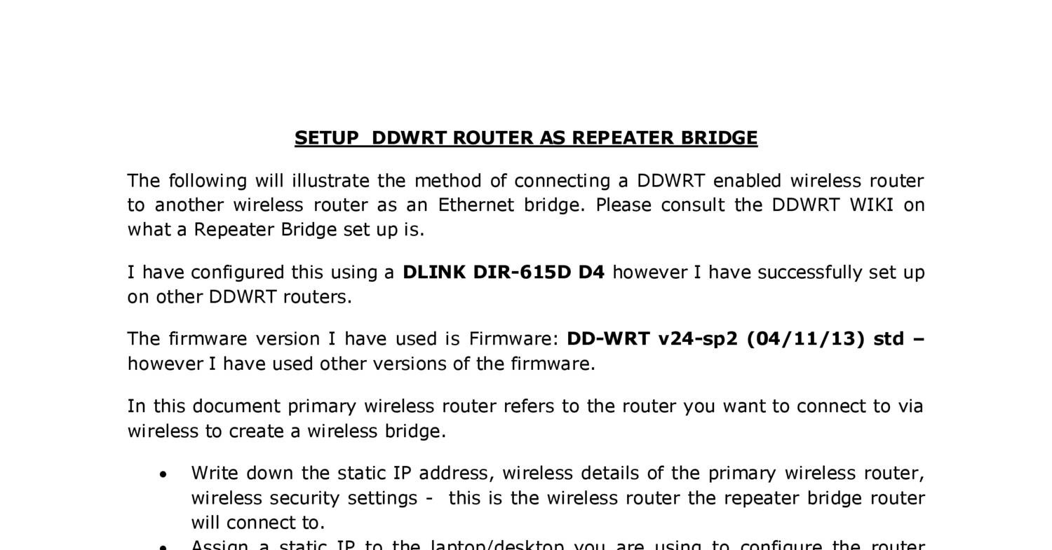 Setup ddwrt router as repeater bridgepdf docdroid baditri Images