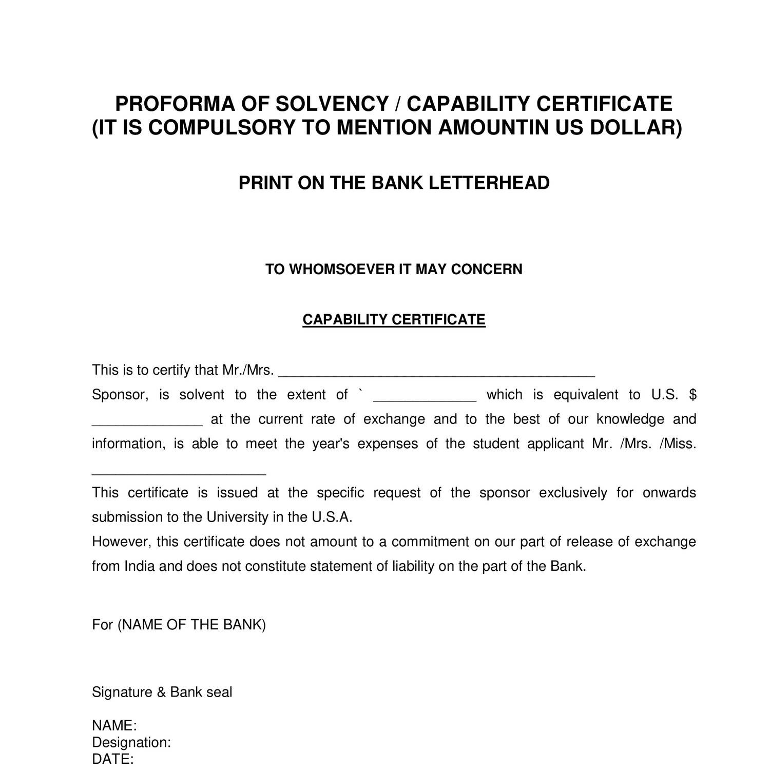 Where to get a certificate of solvency 11