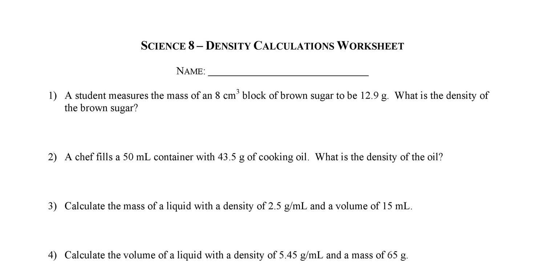 Density Worksheetpdf Docdroid