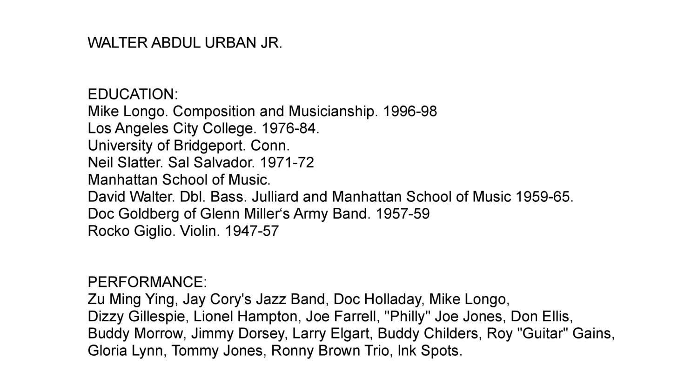 Walter Abdul Urban Jr - Biography.pdf - DocDroid
