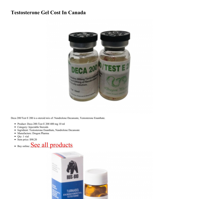 Testosterone Gel Cost In Canada.pdf DocDroid