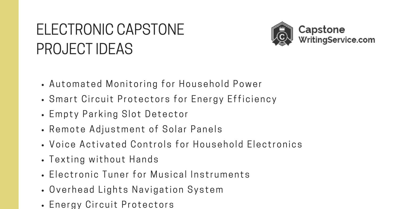 Electronic Capstone Project Ideas.pdf - DocDroid