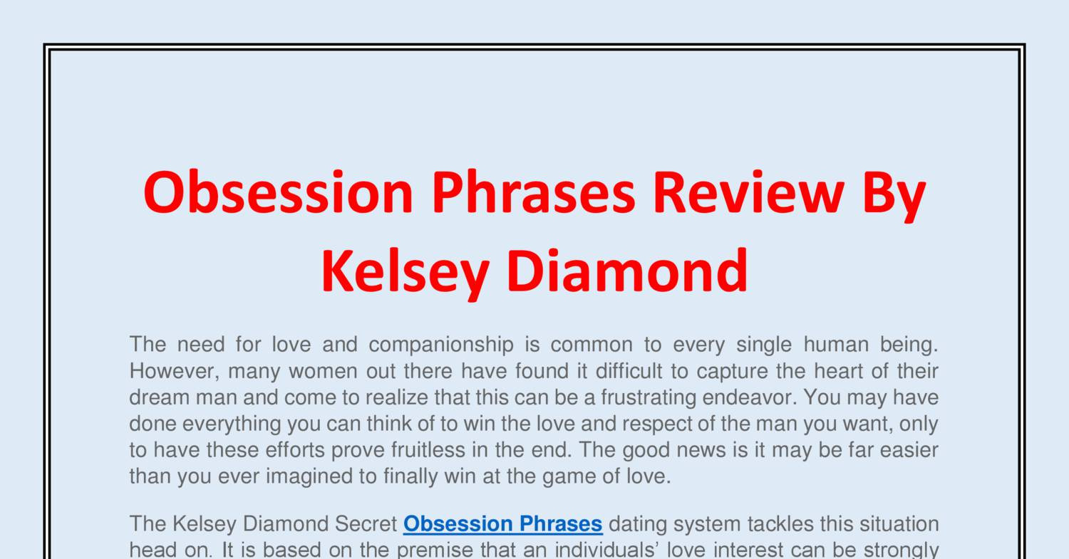 Secret Obsession Phrases Review By Kelsey Diamond pdf | DocDroid