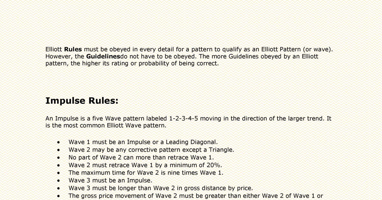 Elliott Wave Principle - Rules & Guidelines pdf | DocDroid