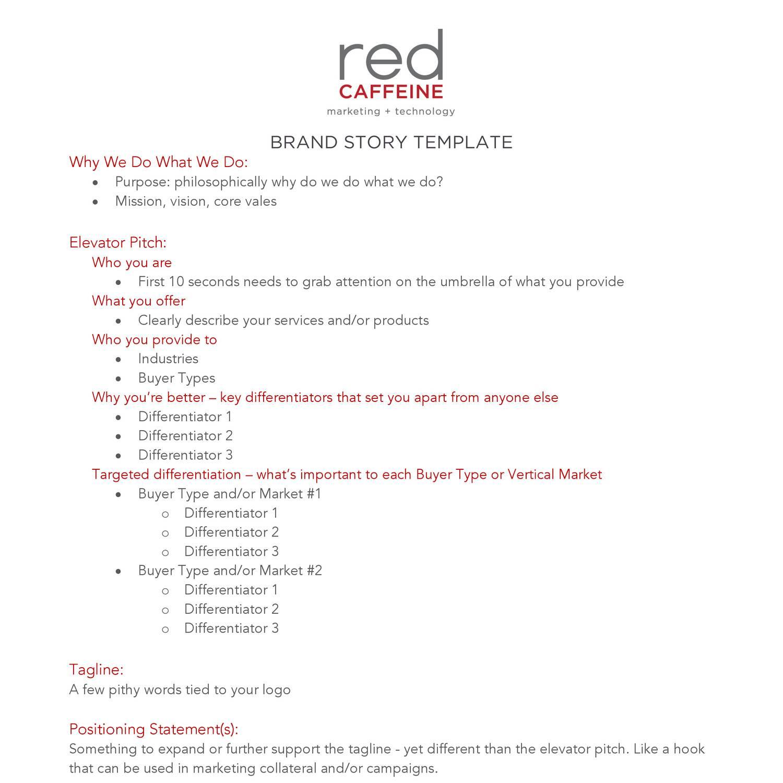 brand story template red docdroid. Black Bedroom Furniture Sets. Home Design Ideas