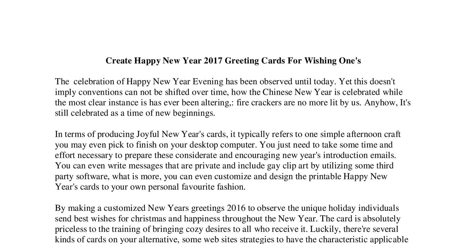 Create Happy New Year 2017 Greeting Cards For Wishing One.pdf - DocDroid