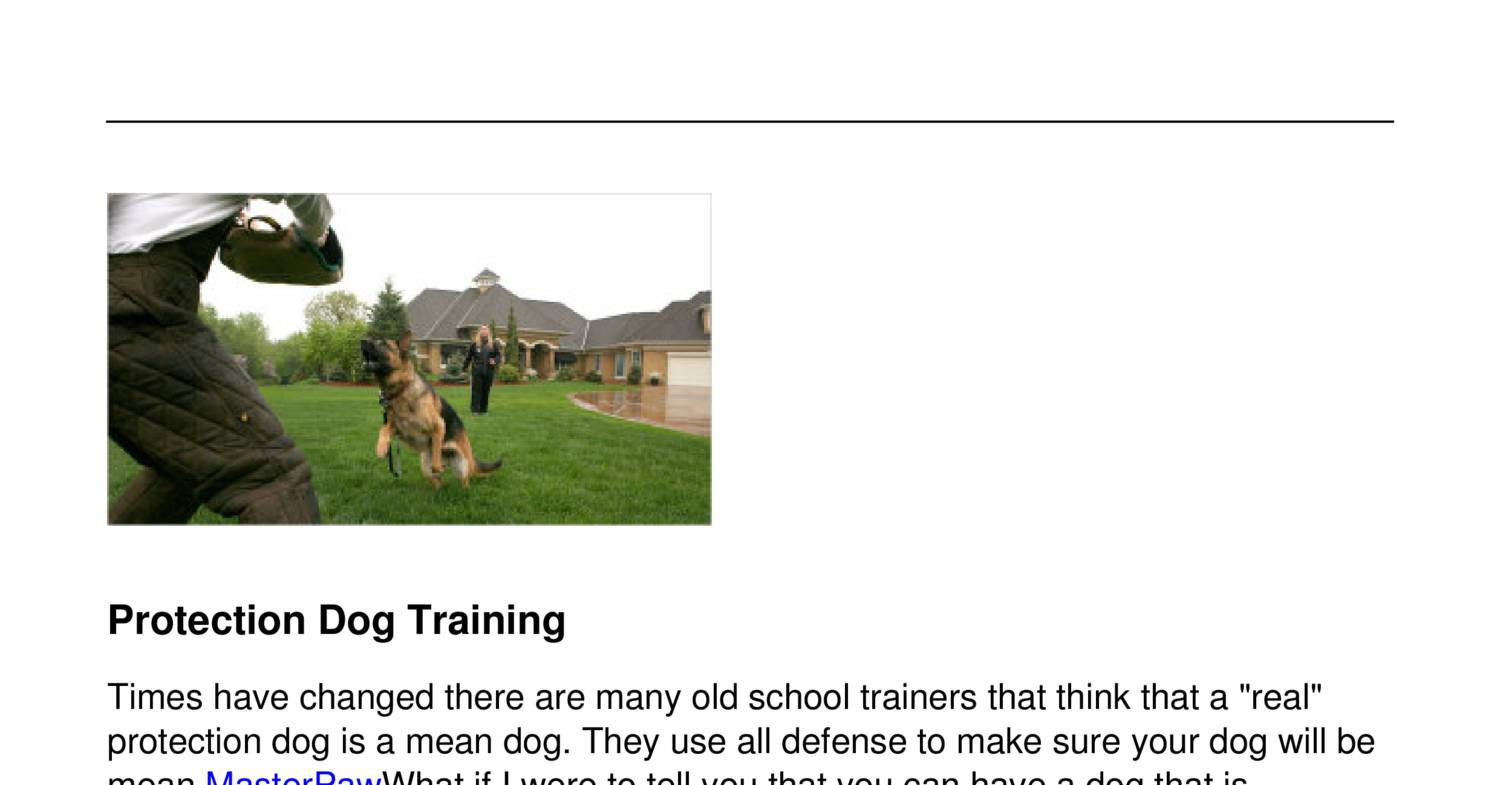 For Real Dog Training
