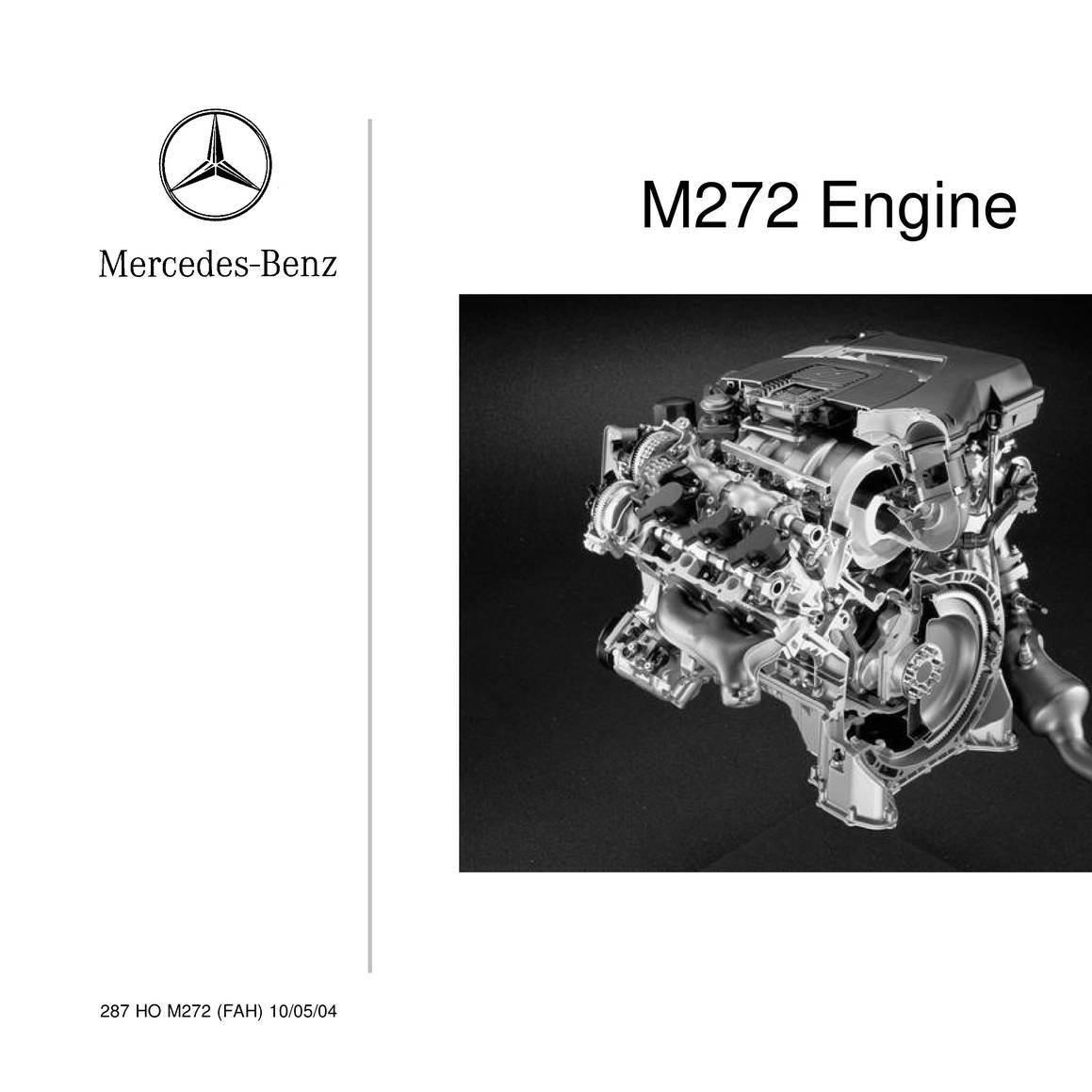 M272 engine pdf | Mercedes Benz Workshop Manuals > ML 350 4MATIC