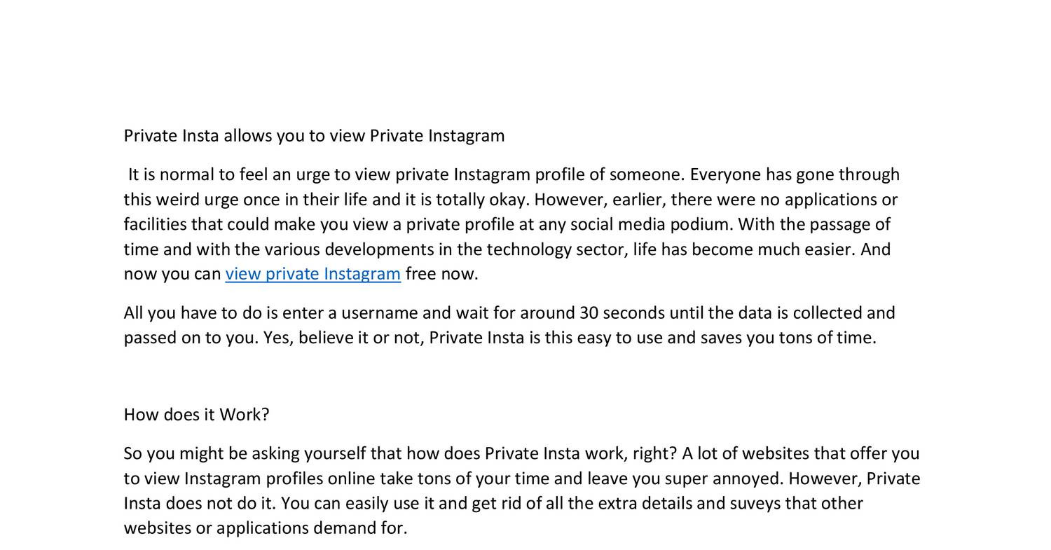how to view private instagram photos online