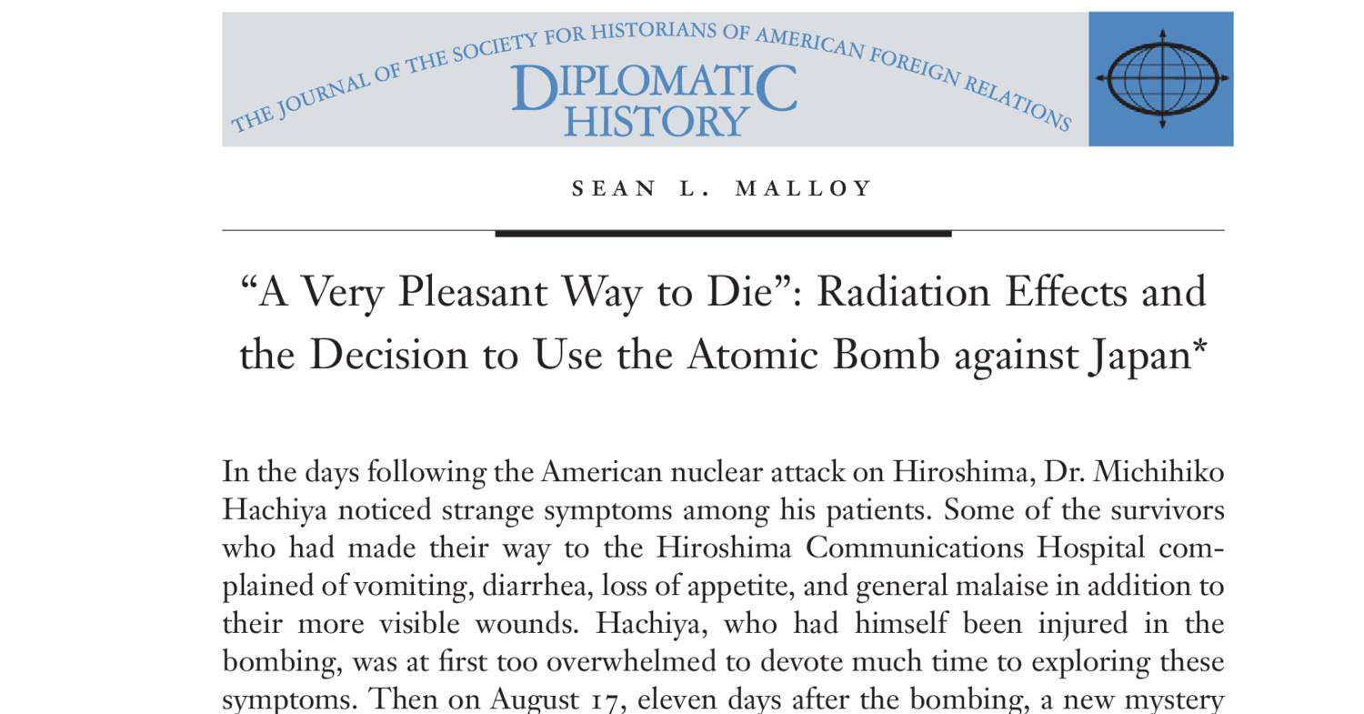 decision to use the atomic bomb essay Background essay on decision to drop the atomic bomb _____ world war ii was fought by millions of people in all corners of the world.