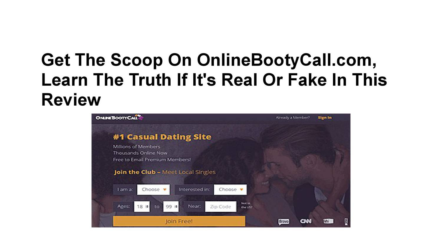 Online bootycall full site