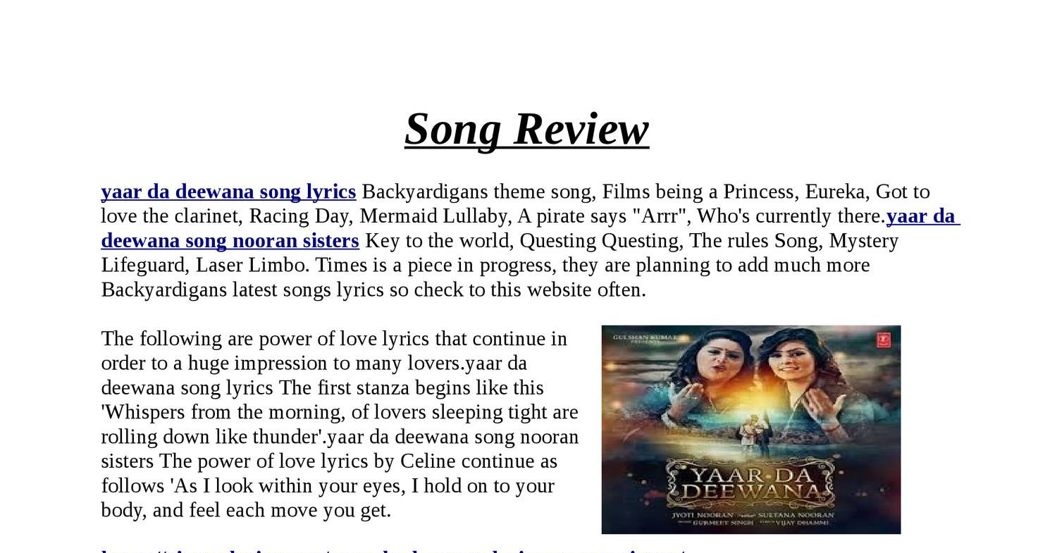 Song Review 1 pdf | DocDroid