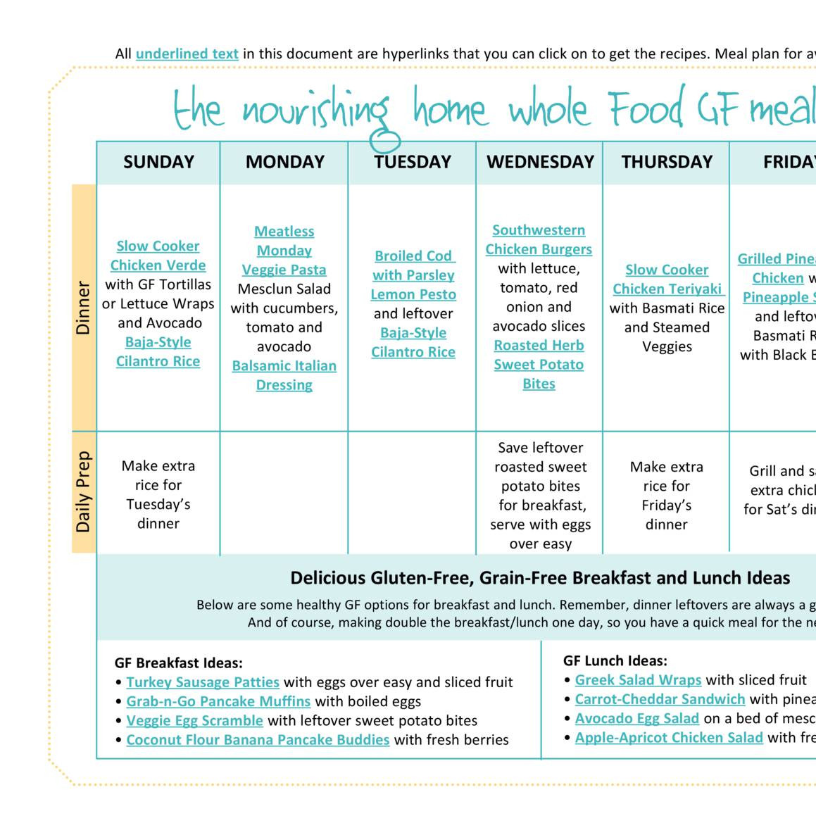 coconut meal plan