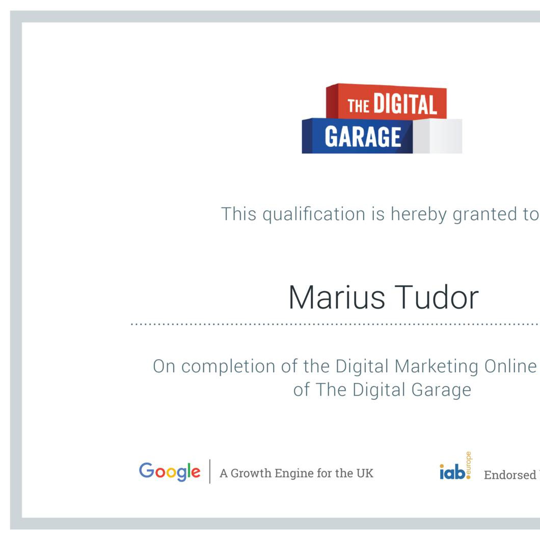 garage: google digital garage certificate value