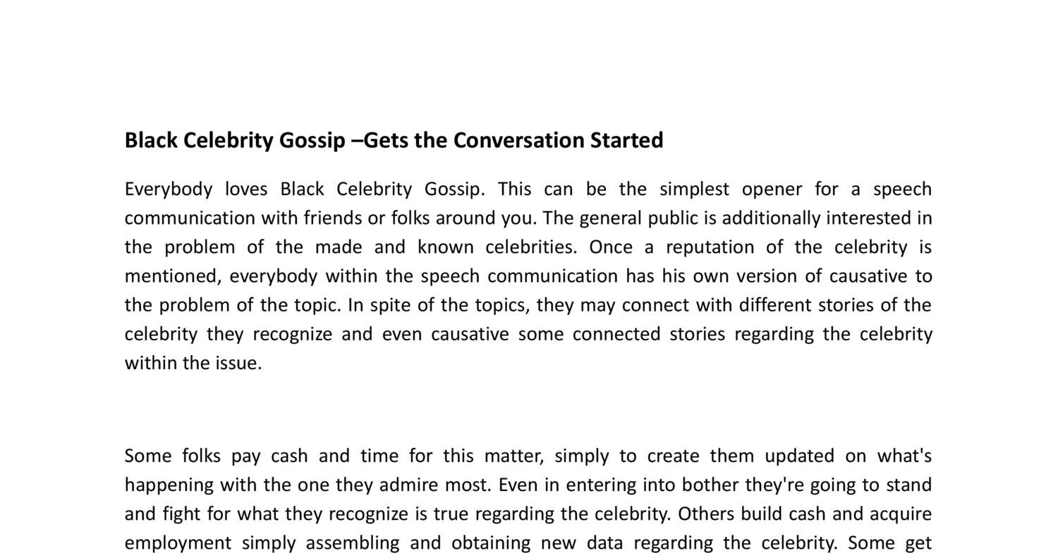 The Young, Black, and Fabulous®   Celebrity Gossip Never ...