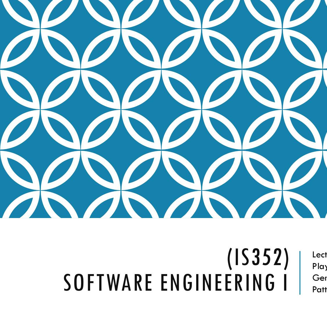 Lecture 9 Is352 Software Engineering Ii Player Role Proxy General Hierarchy Design Patterns Pdf Docdroid