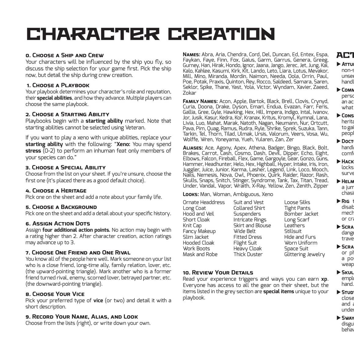 Scum and Villainy - Character Sheets (Xeno) pdf | DocDroid