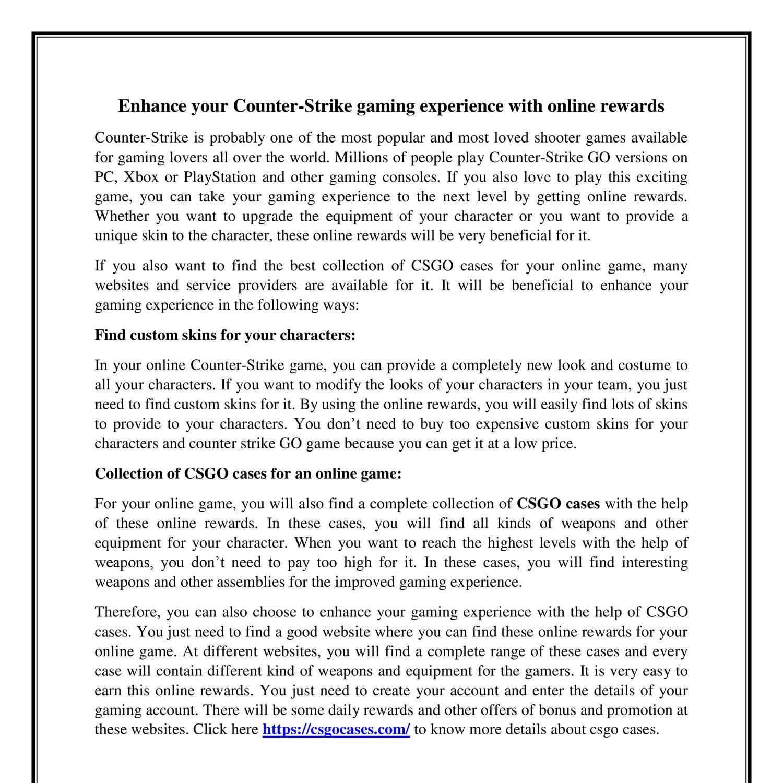 csgo cases pdf docdroid