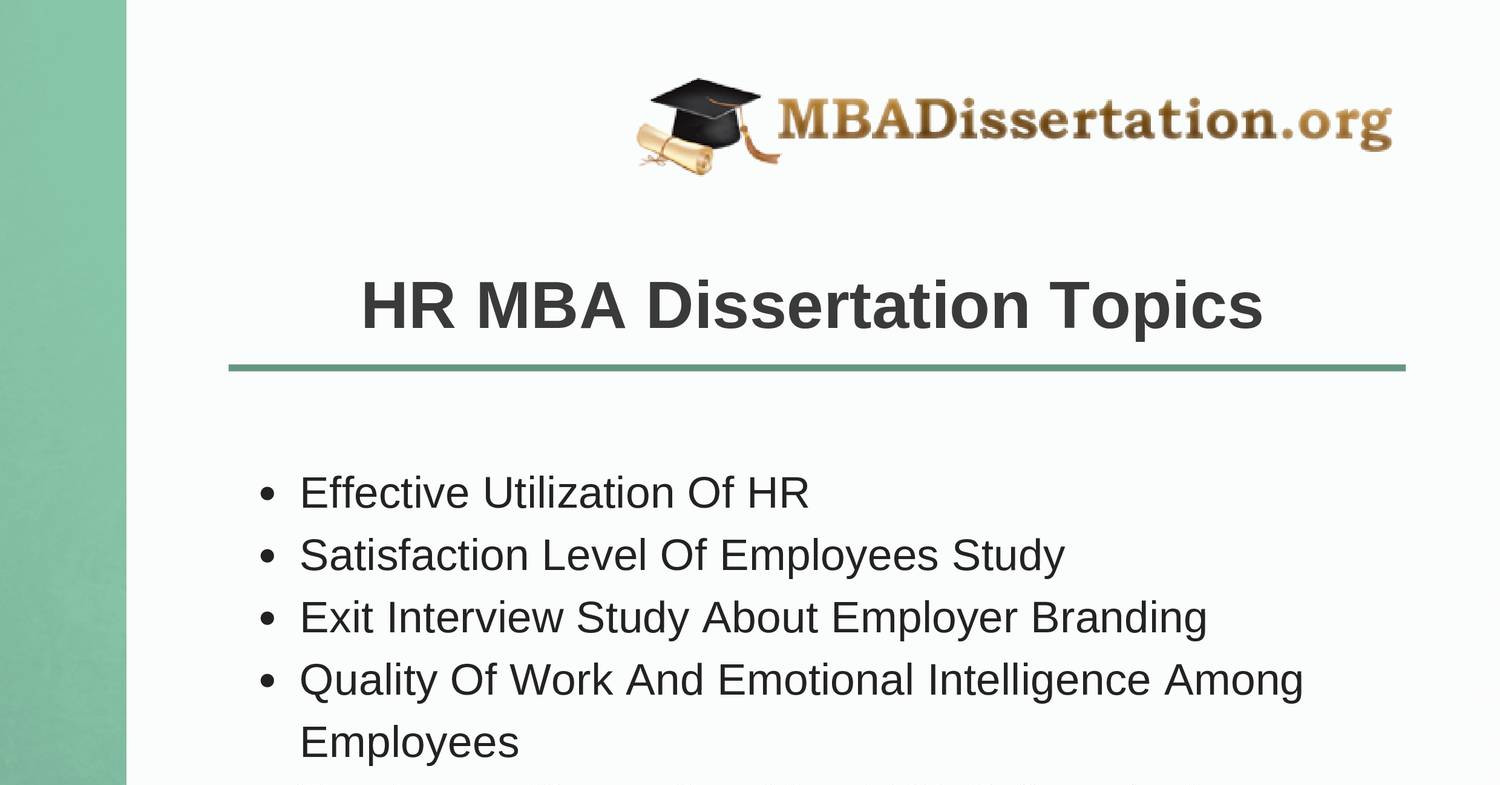 Mba dissertations topics