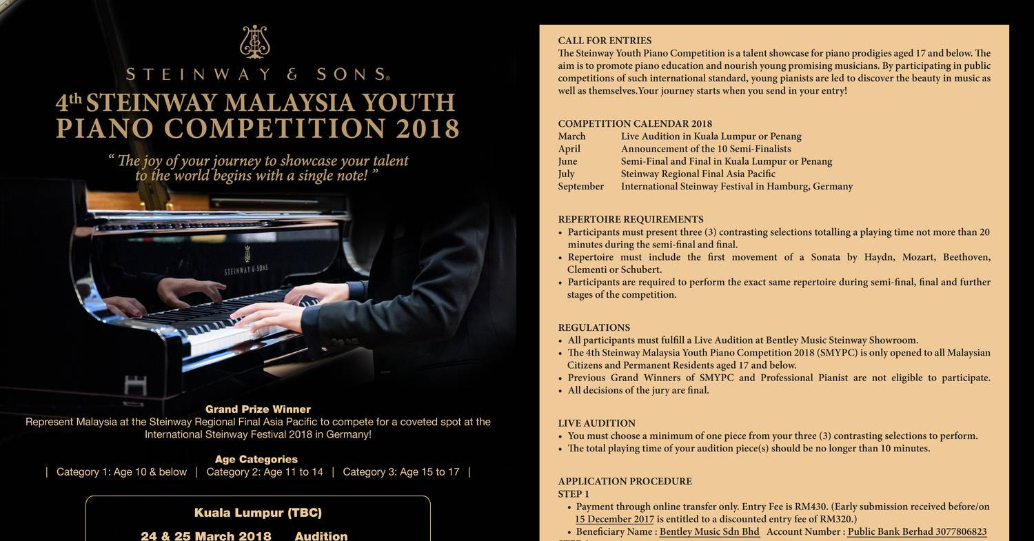 The Steinway Youth Piano Competition pdf | DocDroid
