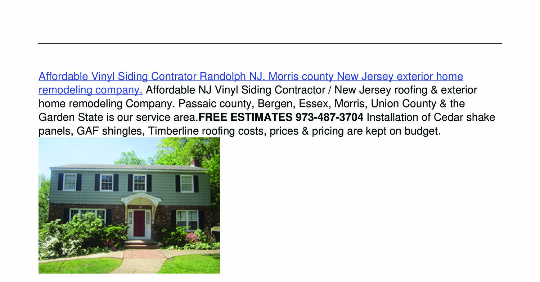 Affordable Vinyl Siding Contractor Randolph Nj Pdf Docdroid