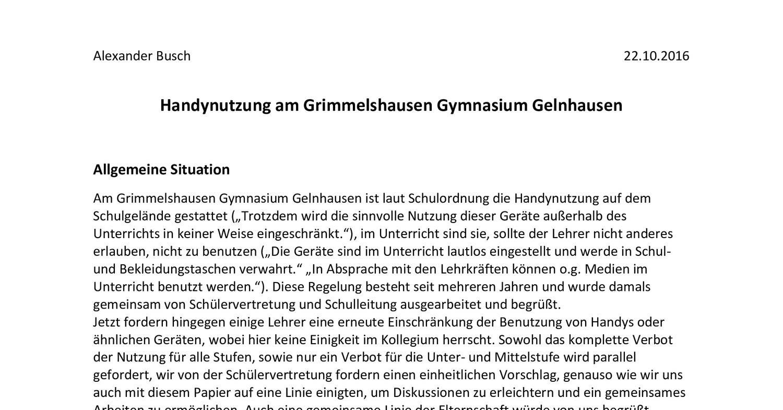 Handynutzung am Grimmelshausen Gymnasium Gelnhausen.pdf ...